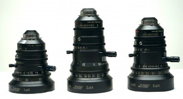 Arri Variable Prime Zoom Lenses 16-40mm, 29-60mm, 55-105mm - USED