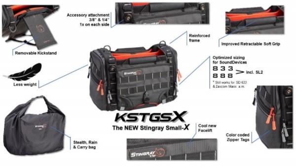K-Tek Stingray New Small Audio Mixer Recorder Bag - KSTGSX