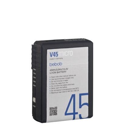 bebob V45MICRO micro VMount Li-Ion Battery 14.4V / 43Wh