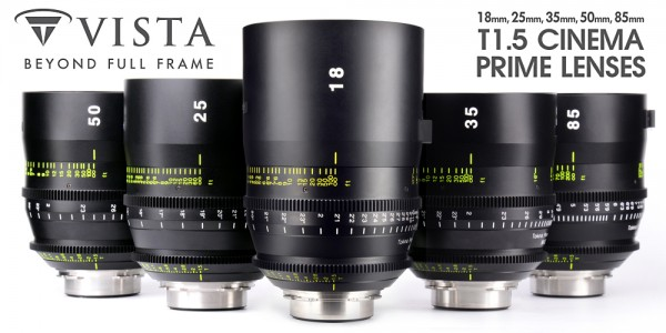 Tokina Vista T1.5 Cinema Prime Lenses